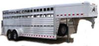 Stock trailers for sale at All American Trailers